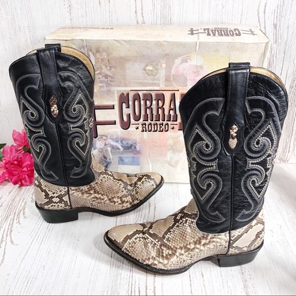 fbcdab90296 Corral python snakeskin western cowboy boots